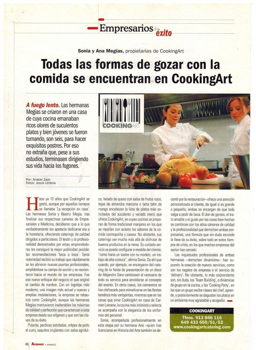 Revista AUSBANC. Apariciones en prensa de COOKINGART Catering.