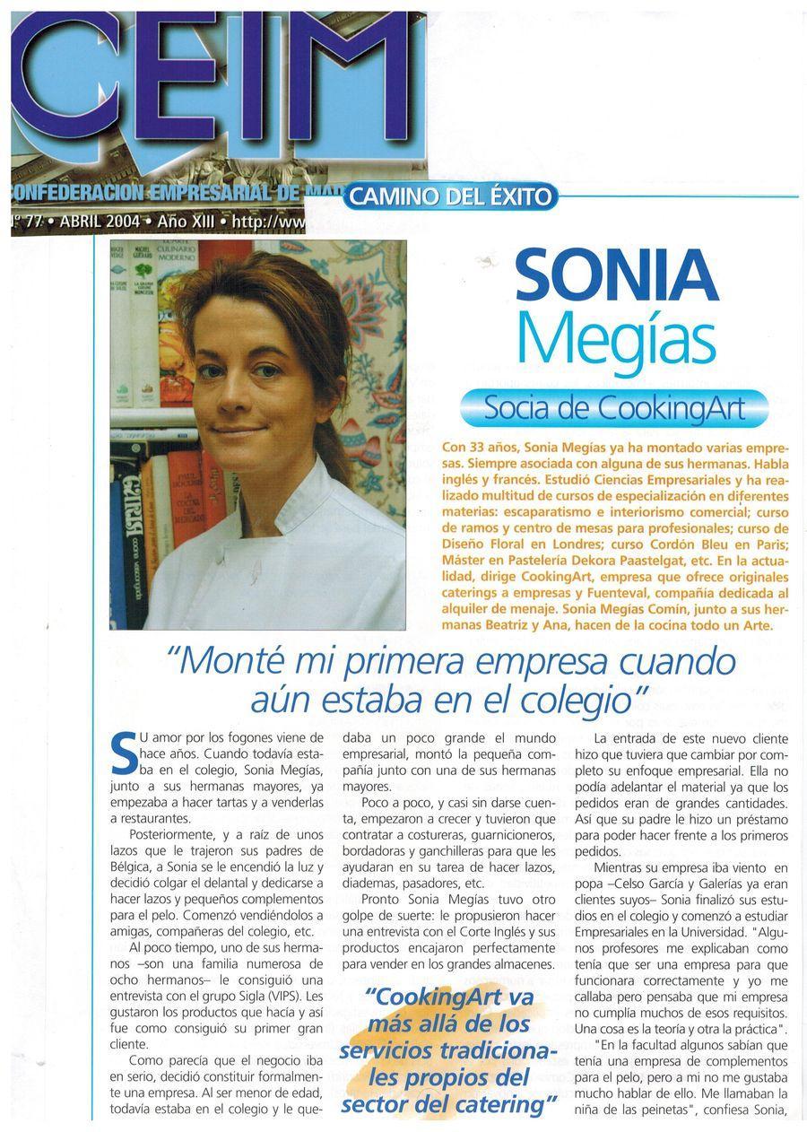 Revista CEIM. Apariciones en prensa de COOKINGART Catering.