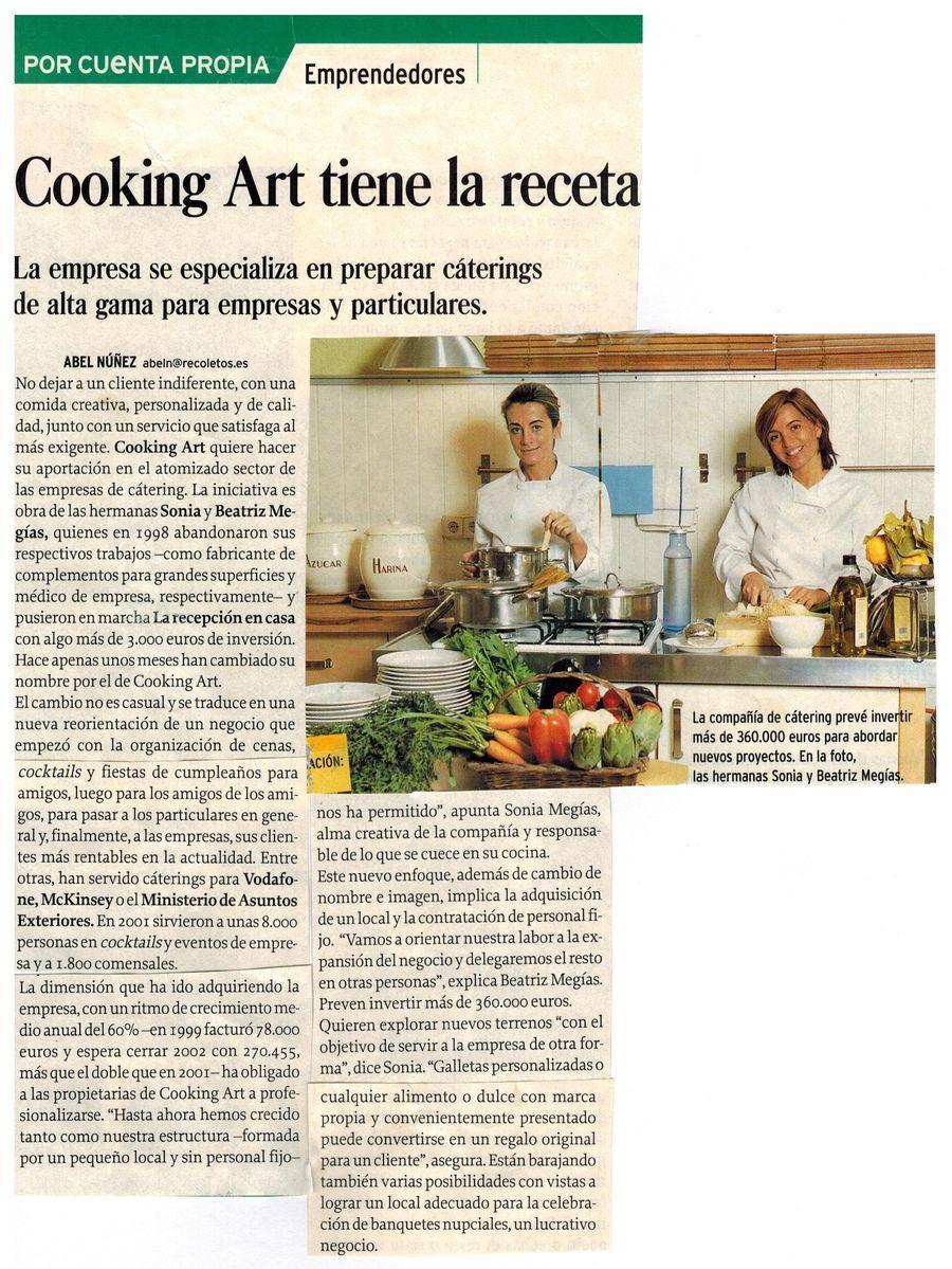 Revista Emprendedores. Apariciones en prensa de COOKINGART Catering.