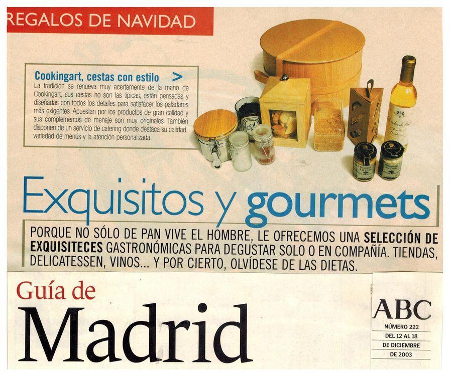 Revista suplemento Guia de Madrid. Apariciones en prensa de COOKINGART Catering.