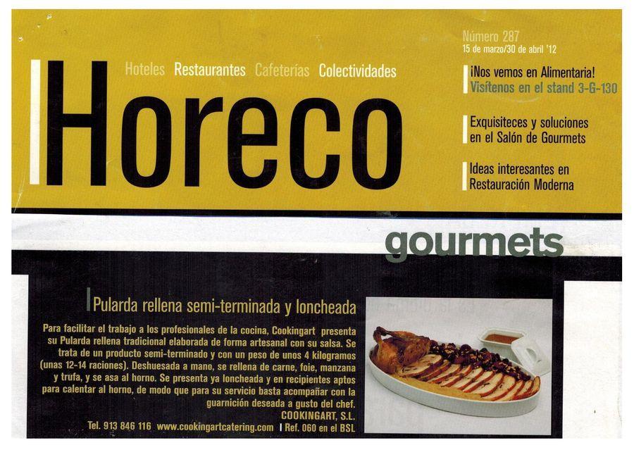 Revista HORECO. Apariciones en prensa de COOKINGART Catering.