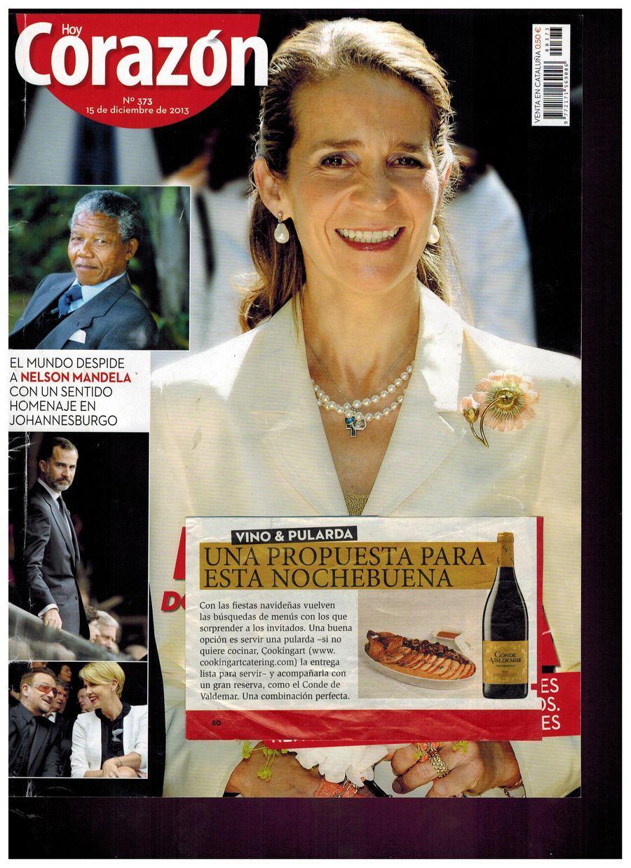 Revista Hoy Corazón. Apariciones en prensa de COOKINGART Catering.