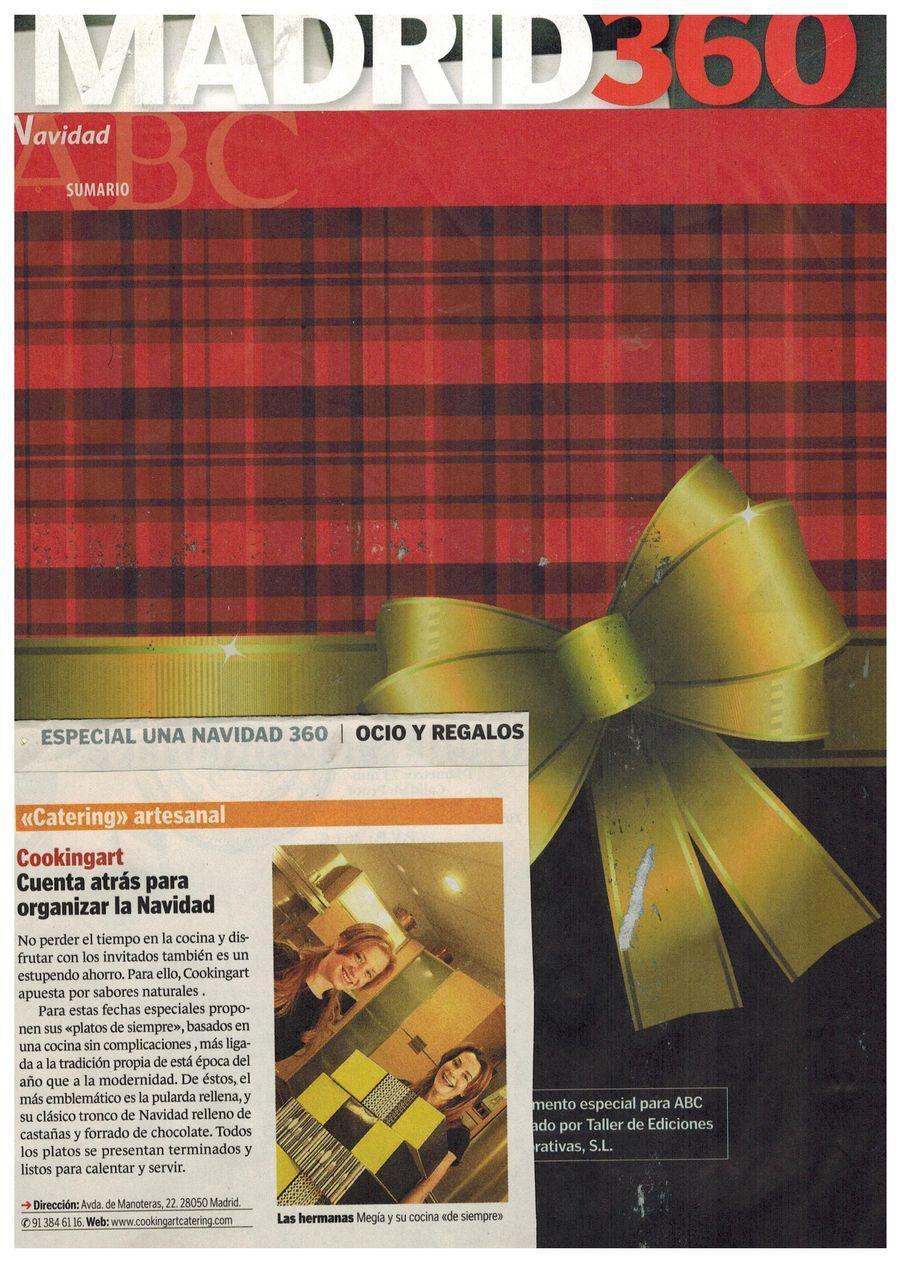 Revista Madrid 360. Apariciones en prensa de COOKINGART Catering.