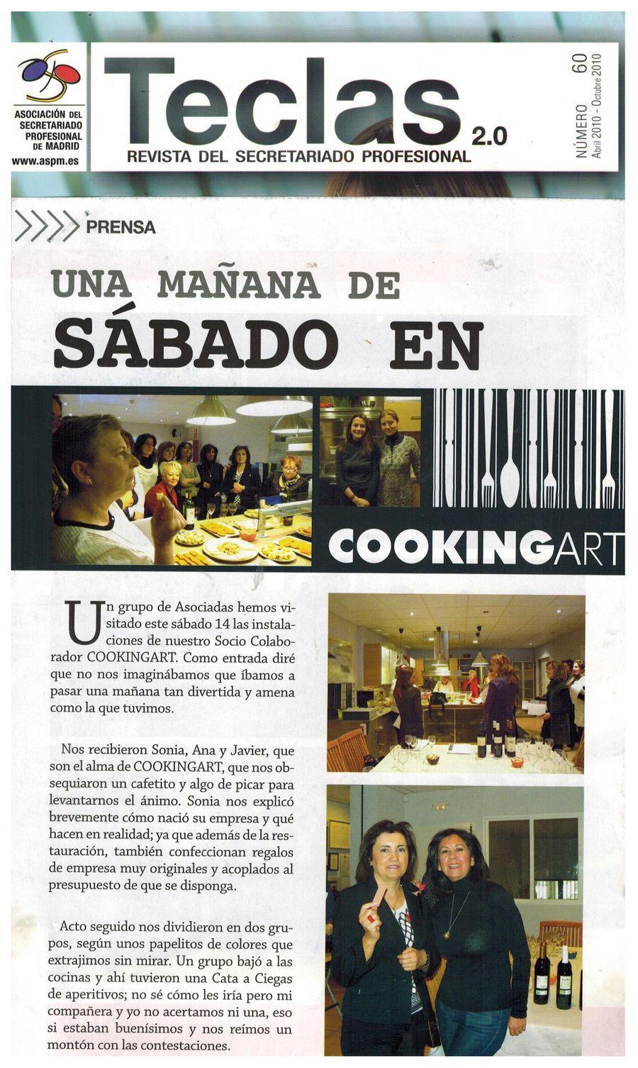 Revista TECLAS. Apariciones en prensa de COOKINGART Catering.